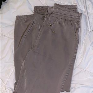 Pants - Satin front tie pants